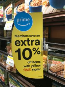 10% reduction Amazon Prime