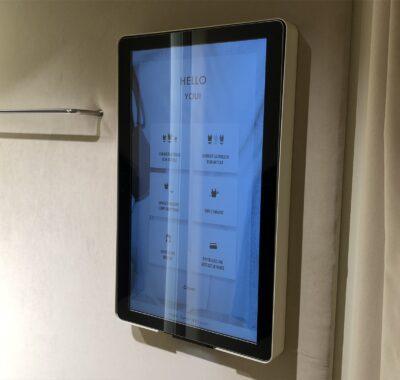 Ecrans d'appel dans les cabines d'essayage