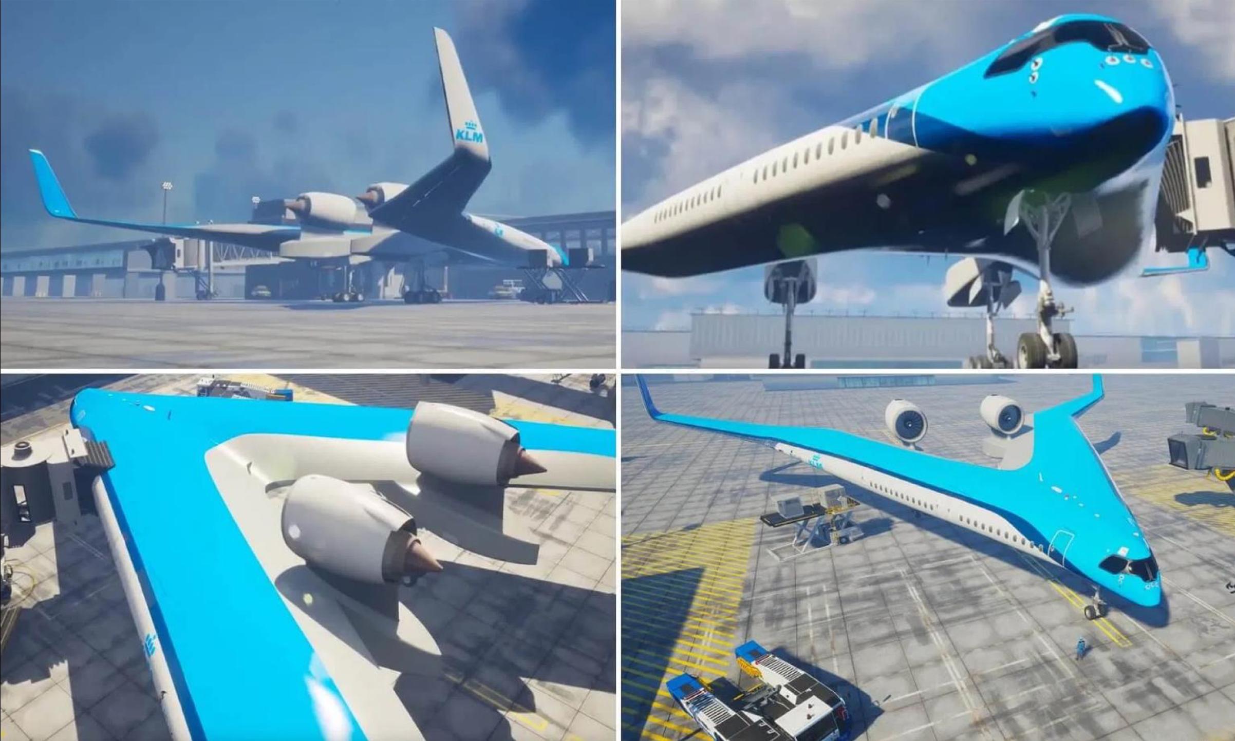V plane KLM